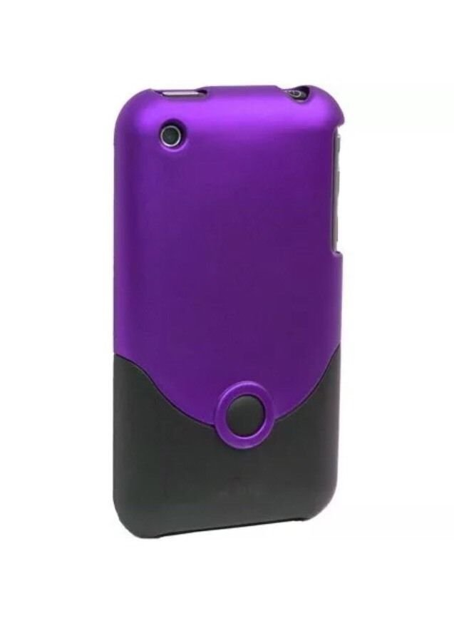 iFrogz Luxe Original Case for Apple iPhone 3GS/3G Purple/Black Cover