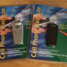 MMSI Universal Cellphone Flash-Lite Mini LED Flashlight 2-pack Black / Silver