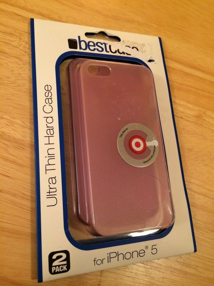 Best Case Ultra Thin Hard Case For iPhone 5 & 5S - 2 Pack Pink/Purple