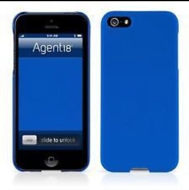 Agent18 Case for Iphone 5 5S  Blue or  Red  SlimShield  Multi-Color, P4SSMUV/D1