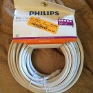 Phillips 50ft RG6 Coaxial Cable for Tv Satellite Cable White HDTV Coax A/V Cable