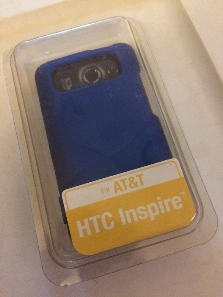 HTC Inspire Body Glove Smooth Case Cover  Blue  Hard Case for ATT