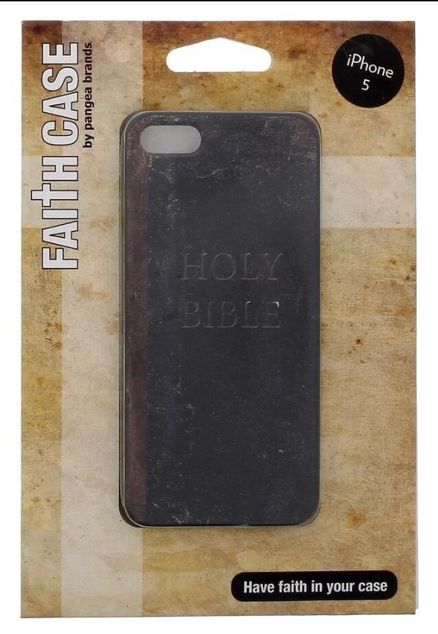 iPhone 5 5S Holy Bible Case By Pangea Brands  Hard Case Brown/Black