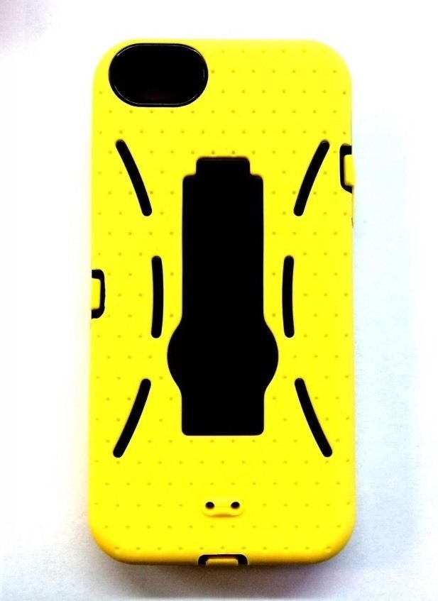 iCover Kickstand Case for iPhone 5 Defender case iPhone 5S  Yellow w/ Black