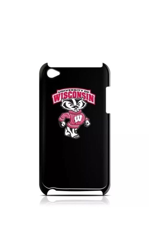 Tribeca iPod Touch 4 4th Gen Varsity Jacket University of Wisconsin Black Red