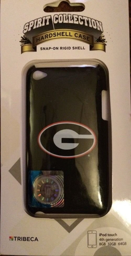 Tribeca iPod Touch 4 4th Gen Varsity Jacket Georgia Bulldogs  Black / Red