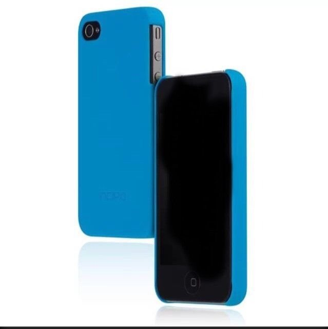 Apple iPhone 4 4s Incipio Feather Ultra Thin Case Cover Cyan Blue Barely There