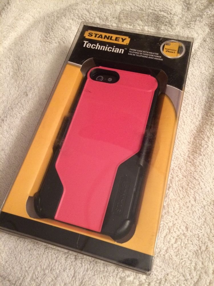 iPhone 5 5S Case w/ Holster Rotating Belt Clip  Heavy Duty Stanley Tools Brand