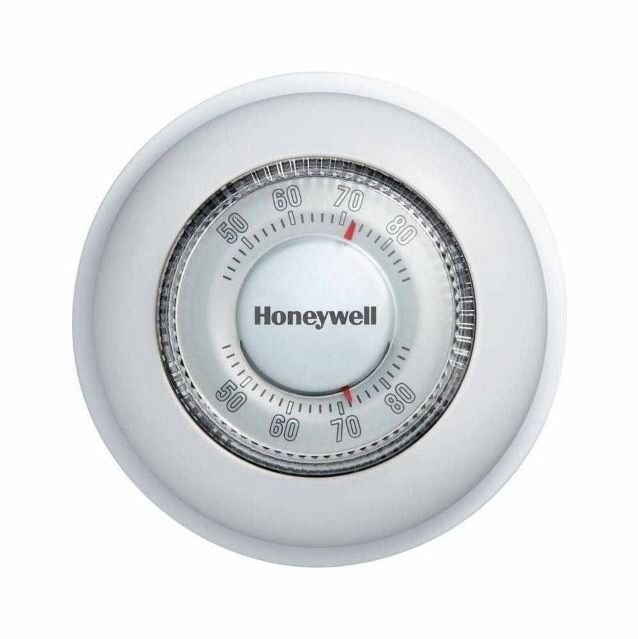 Honeywell Basic Round Thermostat  CT87K Heat Only Simple Dial Style Thermostat