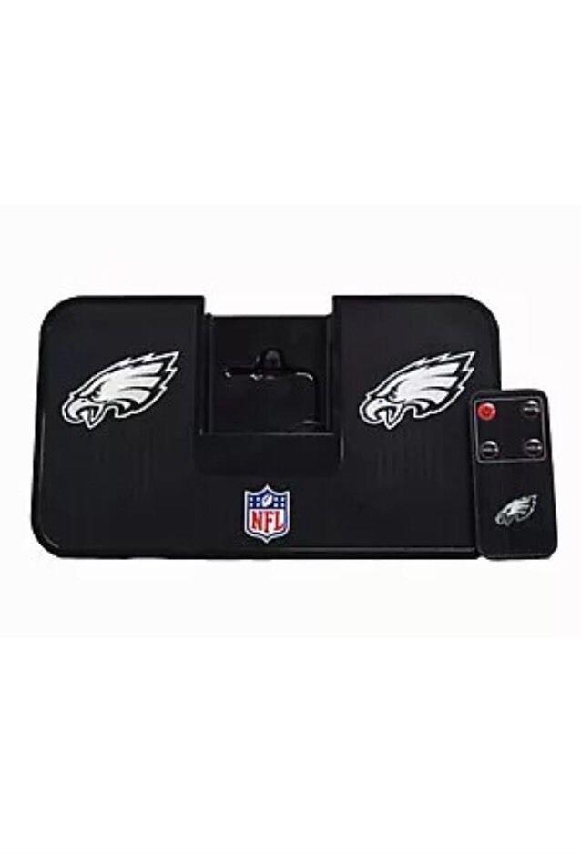 iHip NFL Portable iDock Stereo Speaker with Wireless Remote Philadelphia Eagles