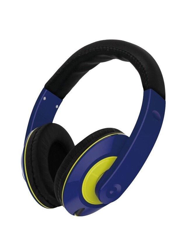 Vibe Sound Color Curve Stereo Headphones w/ Adjustable Headband Navy Green
