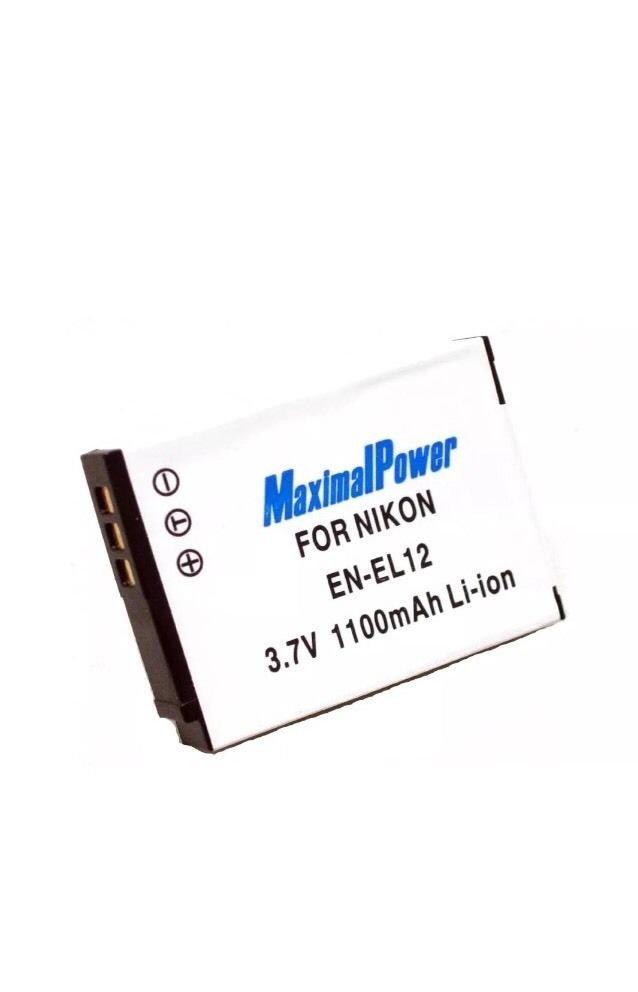 MaximalPower Nikon Replacement Camera Battery NIK EN-EL12 1100mAh Li-ion
