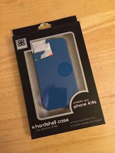 aggeggio  Hardshell Case for Apple iPhone 4/4S  Blue Case Cover Matte Finish