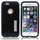 "iPhone 6/6S Plus 5.5"" Hybrid Armor Case w/ Kickstand  Dual Layer Black"