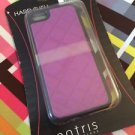 iPhone 5 5S Case w/ Faux Leather Quilted Diamond Pattern Fuchsia