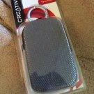 Creative Vado Pocket Video Cam Travel Pouch  Canvas w Connector Clip & Zipper