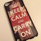 Keep Calm and Carry On Pod Touch 5 5th Gen Hardshell Case Union Jack Red Blue