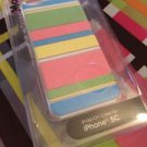 PointMobl Case for Apple iPhone 5c Pastel Stripes Snap On Case RadioShack