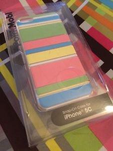 PointMobl Case for Apple iPhone 5c Pastel Stripes Snap On Case RadioShack