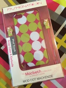 Fashionation Macbeth Collection Mod Dot iPod Touch 5th Gen Snap Case & Earbuds