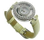 Royal Crown Celebrity CZ Light Yellow Jewel Watch