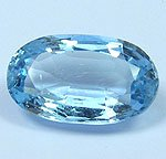 GENUINE AQUAMARINE OVAL SHAPE