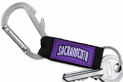 SWW20914KC - SACRAMENTO KINGS LOGO CARABINER WITH BOTTLE OPENER AND KEY CHAIN