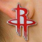 SWW20992E - HOUSTON ROCKETS SILVER TONE POST EARRINGS