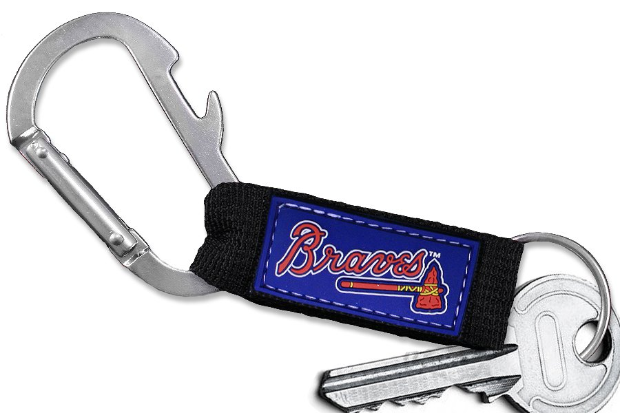 SWW20496KC - OFFICIAL ATLANTA BRAVES CARABINER WITH BOTTLE OPENER AND KEY CHAIN