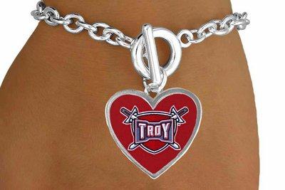 sww15266b troy university trojans bracelet