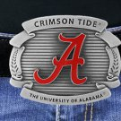 "SWW16881BK - UNIVERSITY OF ALABAMA ""CRIMSON TIDE"" LOGO BELT BUCKLE"