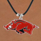 SWW15777N - UNIVERSITY OF ARKANSAS RAZORBACKS BLACK CORD NECKLACE