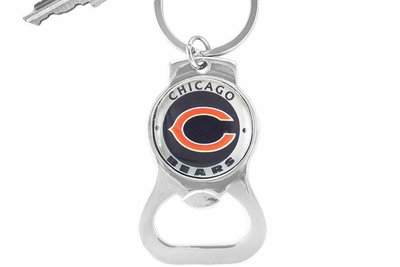 sww16700kc chicago bears key chain bottle opener. Black Bedroom Furniture Sets. Home Design Ideas