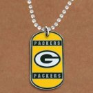 SWW19628N - GREEN BAY PACKERS DOG TAG NECKLACE