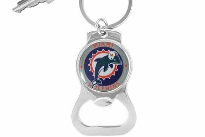 sww16706kc miami dolphins key chain bottle opener. Black Bedroom Furniture Sets. Home Design Ideas