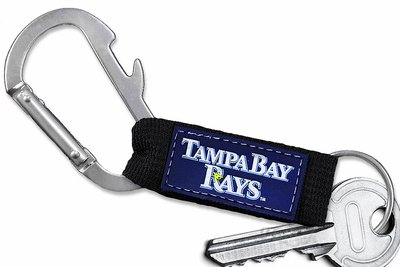 SWW20582KC - OFFICIAL TAMPA BAY RAYS  CARABINER WITH BOTTLE OPENER AND  KEY CHAIN