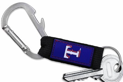 SWW20500KC - OFFICIAL TEXAS RANGERS  CARABINER WITH BOTTLE OPENER AND  KEY CHAIN