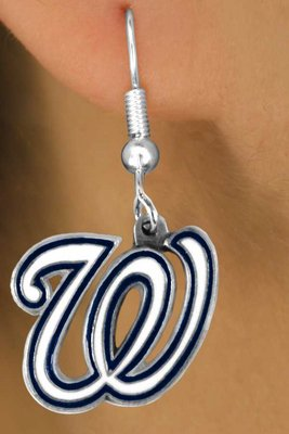 SWW14785E - WASHINGTON NATIONALS LOGO EARRINGS