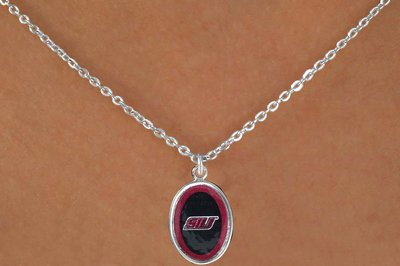 "SWW16055N - SOUTHERN ILLINOIS UNIVERSITY ""SALUKIS"" NECKLACE"