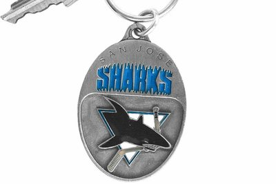 SWW15973KC - SAN JOSE SHARKS KEY CHAIN