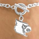 SWW13699B - LICENSED UNIVERSITY OF LOUISVILLE CARDINALS MASCOT BRACELET