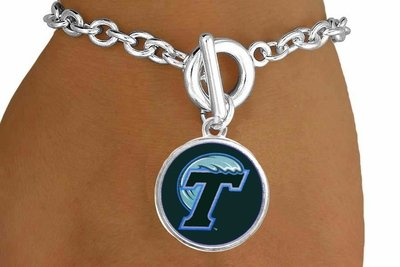 "SWW19154B - TULANE UNIVERSITY ""GREEN WAVE""  BRACELET"