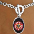 "SWW16965B - LICENSED UNIVERSITY OF LOUISIANA ""RAGIN' CAJUNS"" LOGO BRACELET"