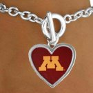 "SWW15015B - UNIVERSITY OF MINNESOTA ""GOLDEN GOPHERS"" BRACELET"