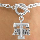 "SWW12798B - LICENSED TEXAS A&M UNIVERSITY ""AGGIES"" LOGO BRACELET"