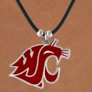 "SWW15169N - WASHINGTON STATE UNIVERSITY ""COUGARS"" CORD NECKLACE"