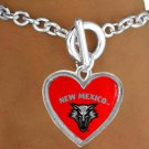 SWW15285B - UNIVERSITY OF NEW MEXICO LOBOS BRACELET
