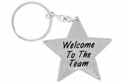 """SWW14394KC - """"WELCOME TO THE TEAM"""" STAR KEY CHAIN"""
