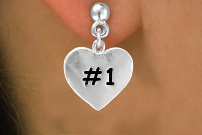 "SWW299SE - ""#1"" HEART & EARRINGS"