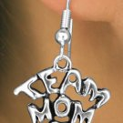 "SWW682SE - ""TEAM MOM"" CHARM & EARRINGS"